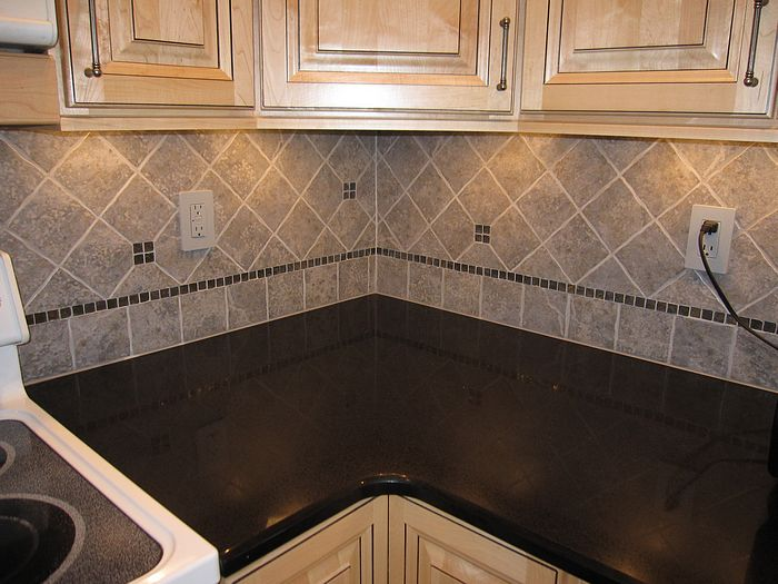 kitchen backsplash inserts - kitchen design