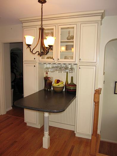 Seating And Storage In Remodeled Kitchen In College Hill Cincinnati Ohio