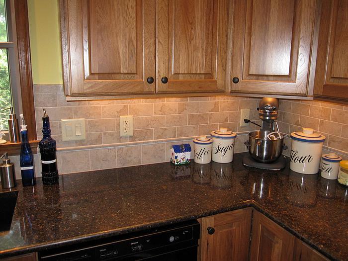 Backsplash in remodeled kitchen in anderson township cincinnati ohio